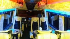 Executive Minibus Hire with Conference Seating