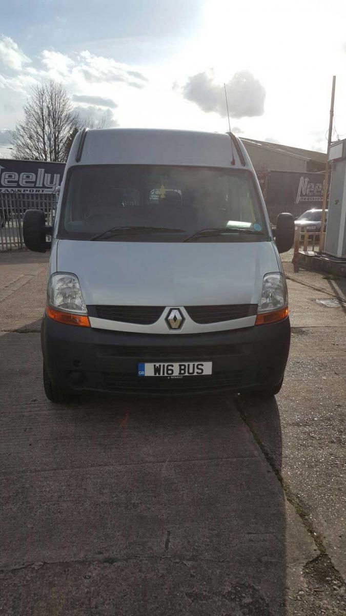 17 seater Renault Master minibus.